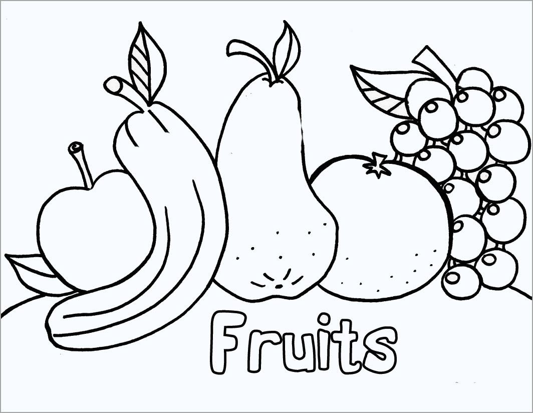 Hình tô màu hoa quả cho bé