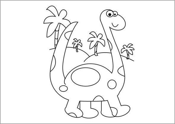 Hình tô màu khủng long cho bé