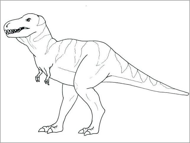 Hình tô màu khủng long