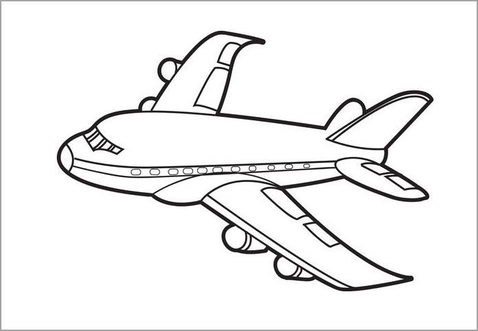 Hình tô màu máy bay cho bé