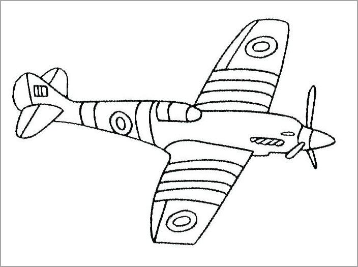 Hình tô màu máy bay đẹp cho bé tô màu
