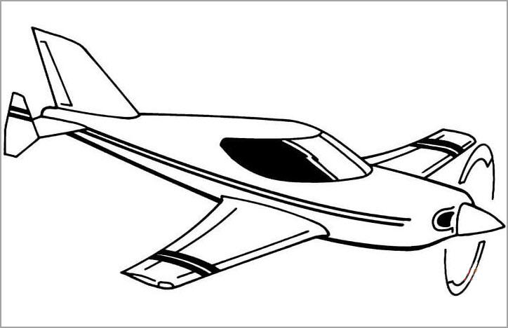 Hình tô màu máy bay đẹp nhất