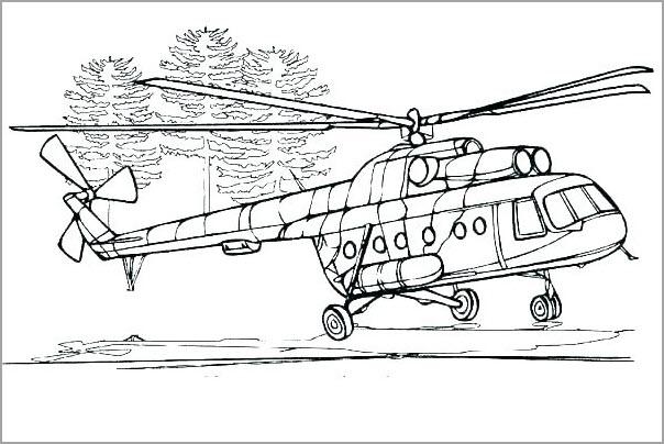 Hình tô màu máy bay trực thăng (2)
