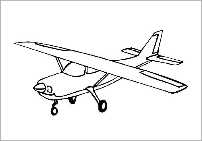 Hình tô màu máy bay