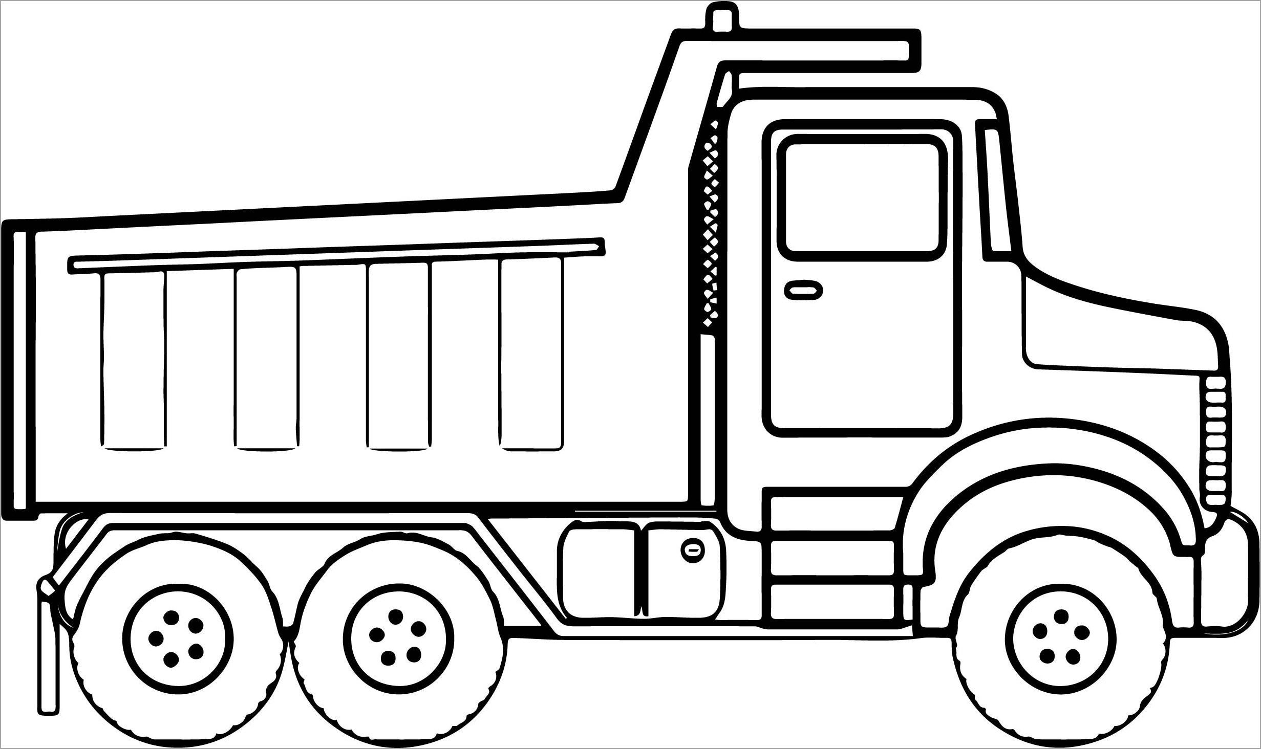 Hình tô màu ô tô tải