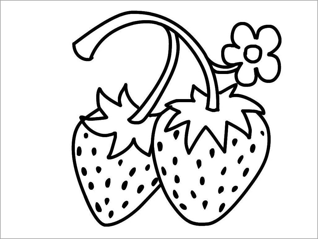 Hình tô màu quả dâu tây đẹp