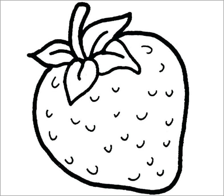 Hình tô màu quả dâu tây