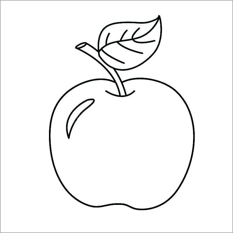 Hình tô màu quả táo đẹp nhất