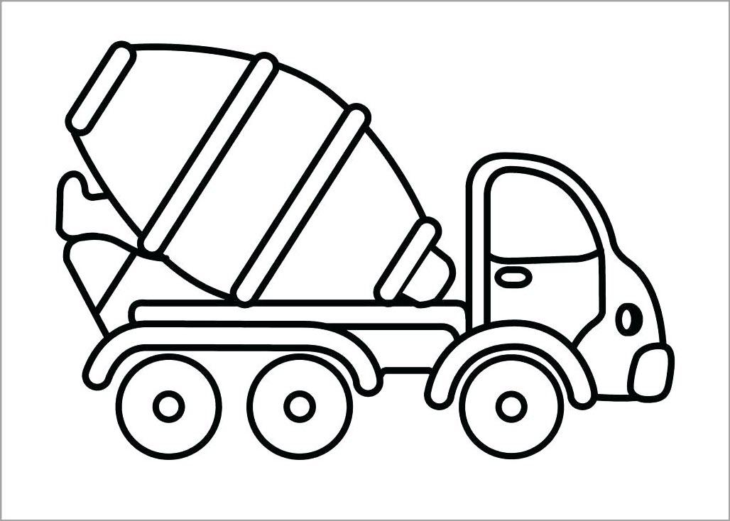 Hình tô màu xe trộn bê tông