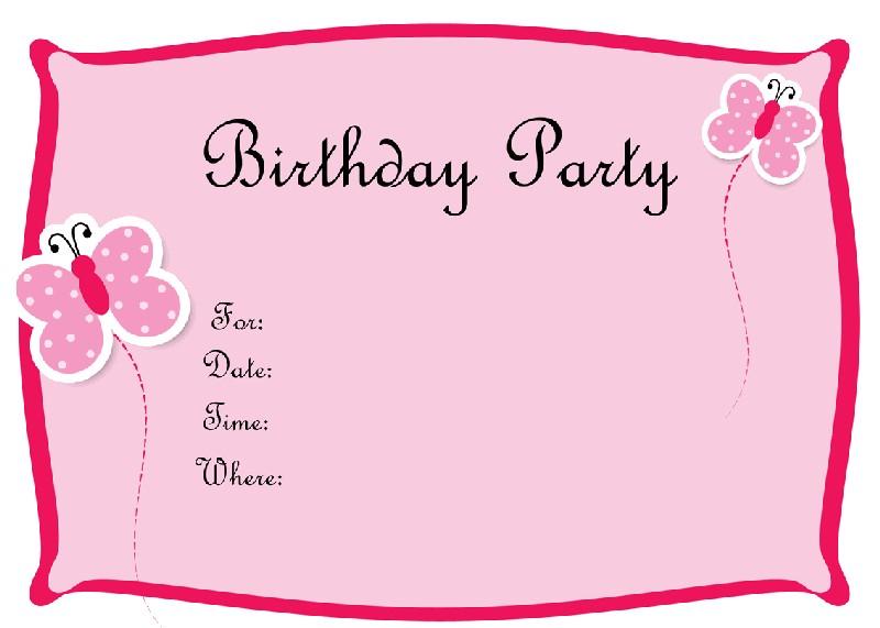 Mẫu thiệp mời sinh nhật cực đẹp