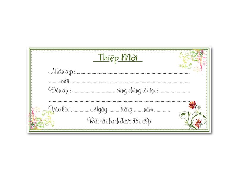 Mẫu thiệp mời sinh nhật đẹp và đơn giản