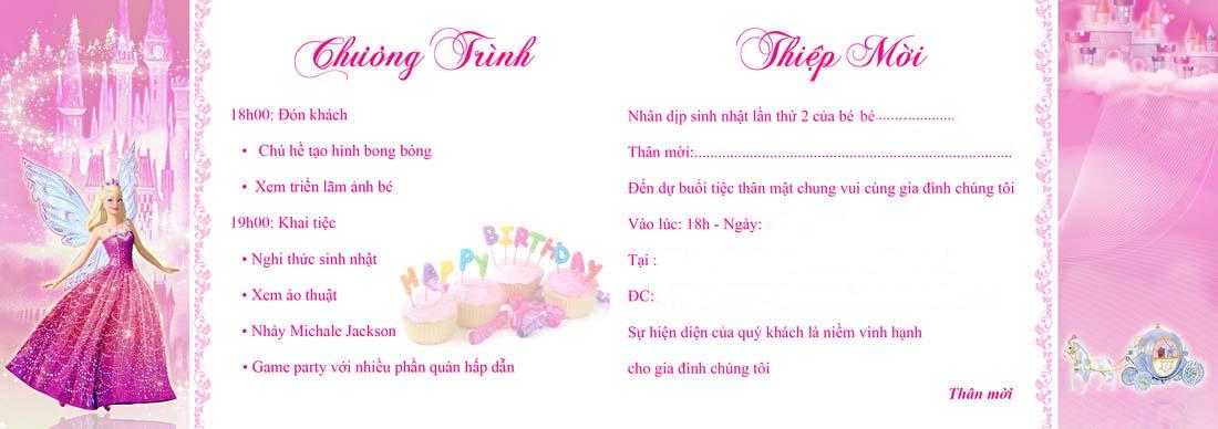 Mẫu thiệp mời sinh nhật mời khách