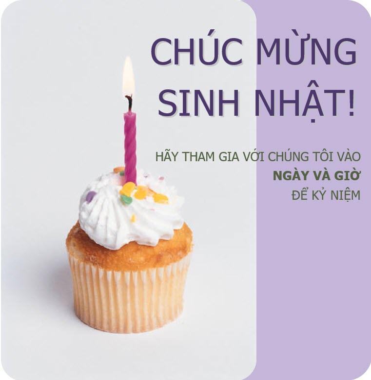 Mẫu thiệp mời sinh nhật thiết kế đẹp