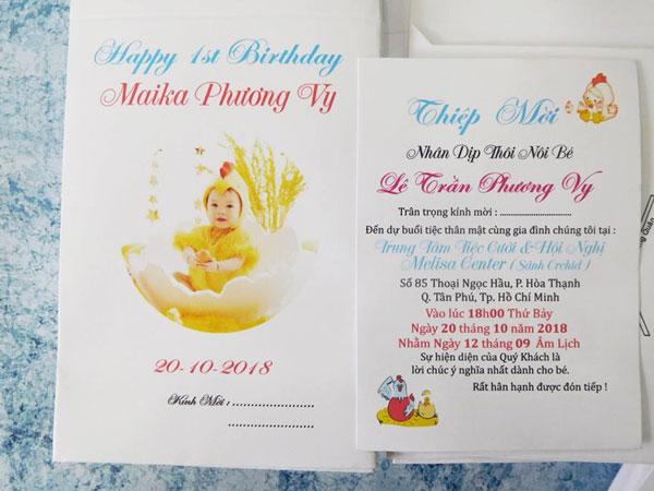 Mẫu thiệp mời sinh nhật thiết kế đơn giản