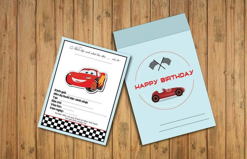 Mẫu thiệp mời sinh nhật trang trí đẹp