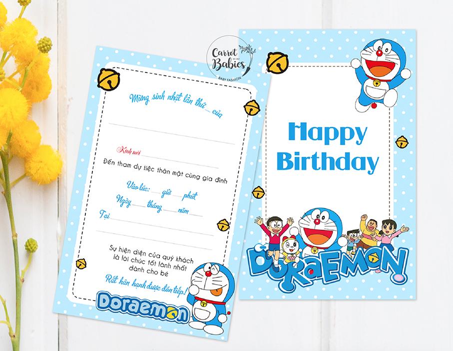 Mẫu thiết kế thiệp mời sinh nhật