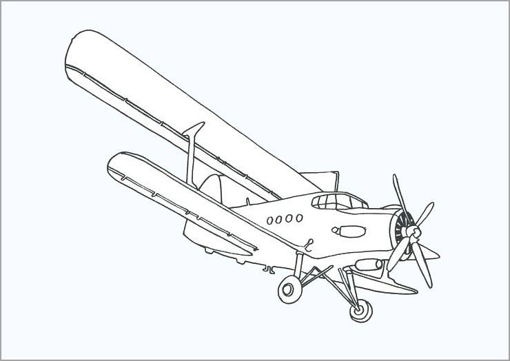 Máy bay cho bé tô màu