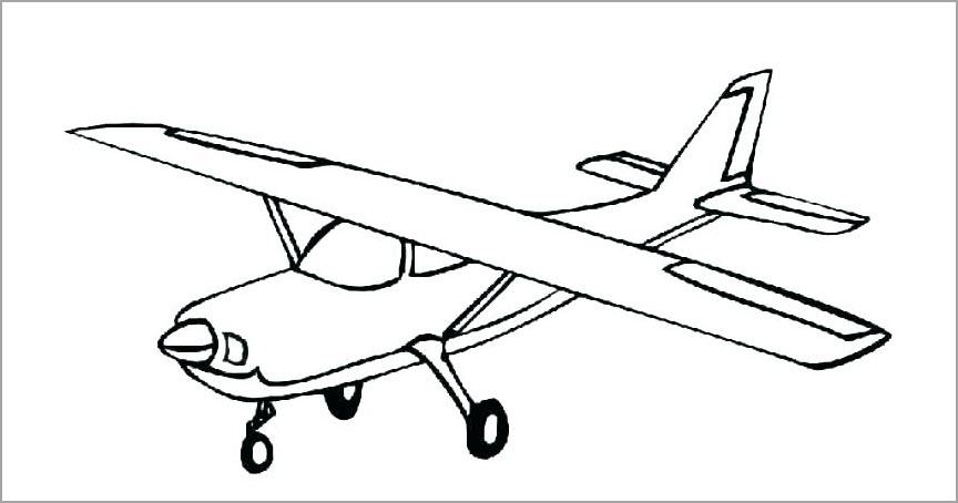 Máy bay đen trắng cho bé tập tô