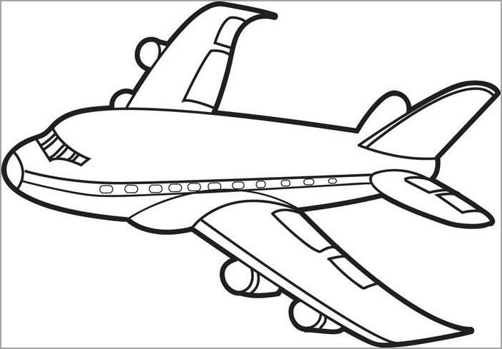 Máy bay đẹp cho bé tô màu