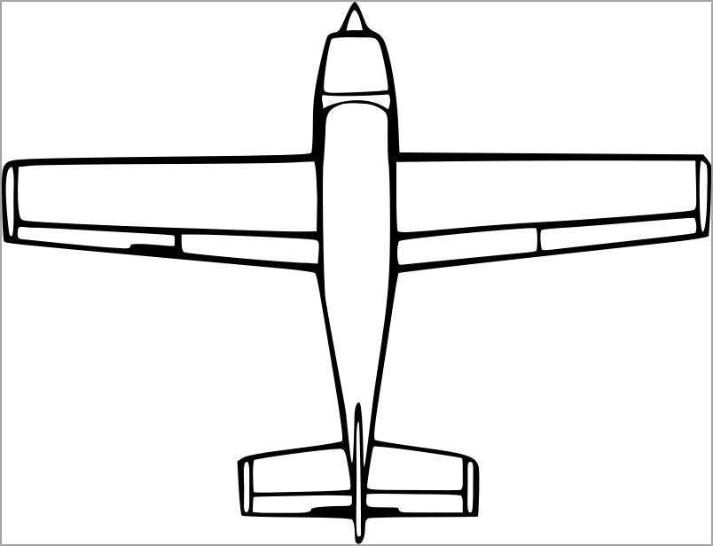 Máy bay tô màu cho bé