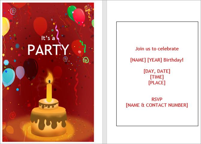 Những mẫu thiệp mời sinh nhật đẹp