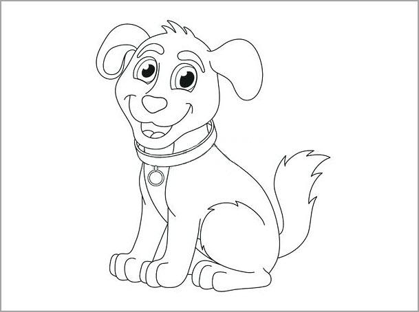 Tập tô màu chú chó đáng yêu
