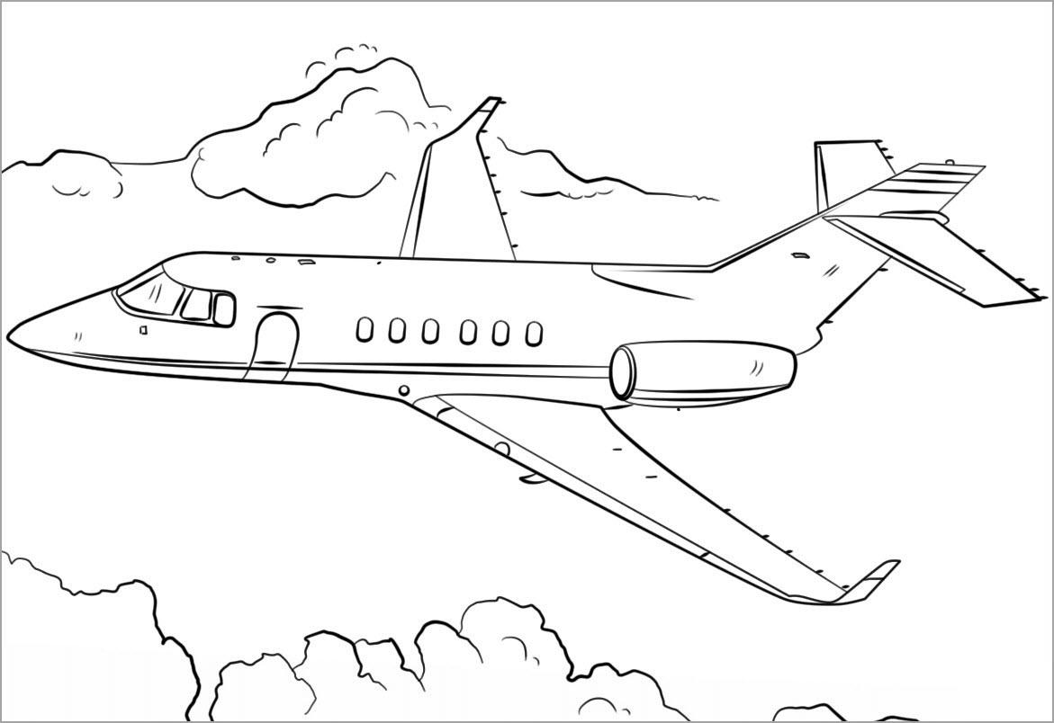 Tập tô màu chủ đề máy bay