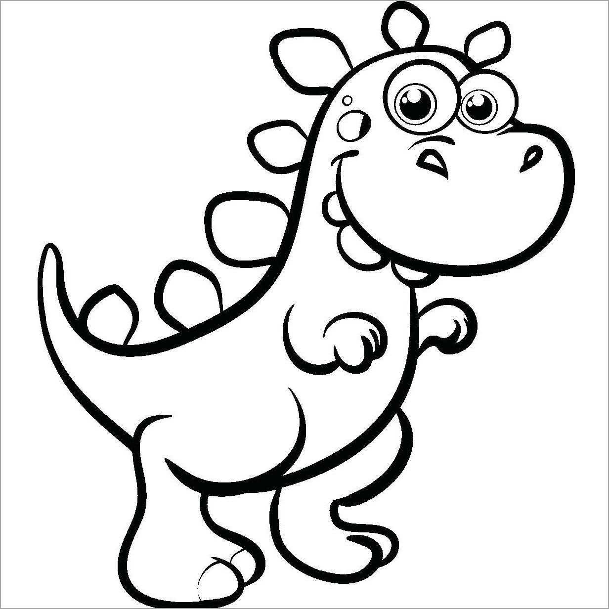 Tập tô màu hình khủng long cho bé