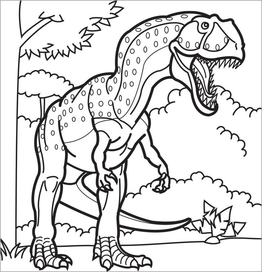 Tập tô màu hình khủng long