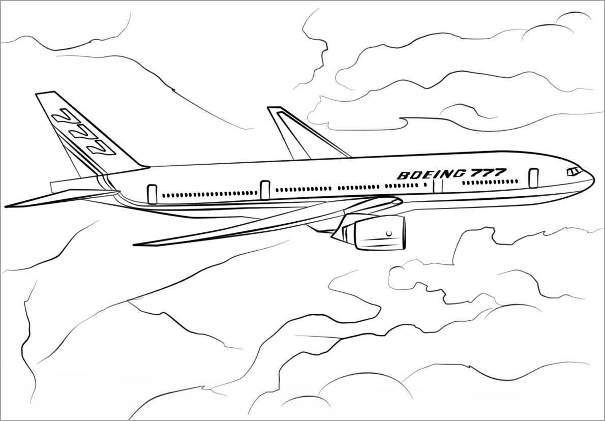 Tập tô màu hình máy bay cho bé