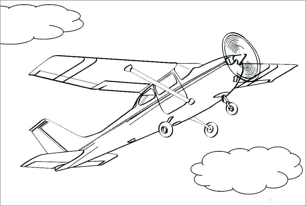 Tập tô màu hình máy bay