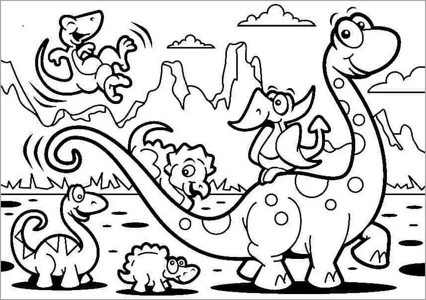 Tập tô màu khủng long