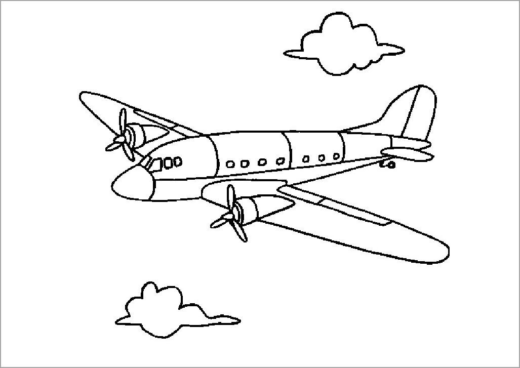 Tập tô màu máy bay đẹp