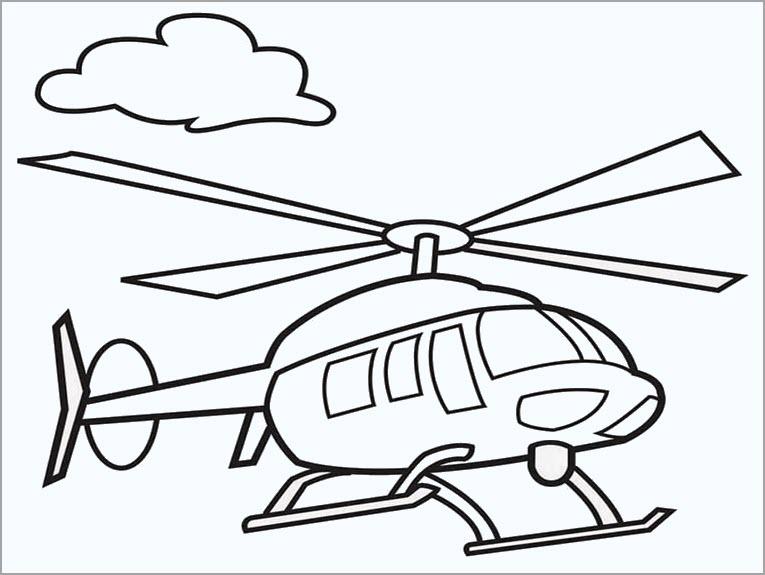 Tập tô màu máy bay trực thăng