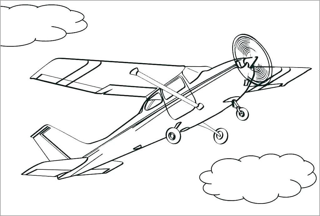 Tập tô màu máy bay