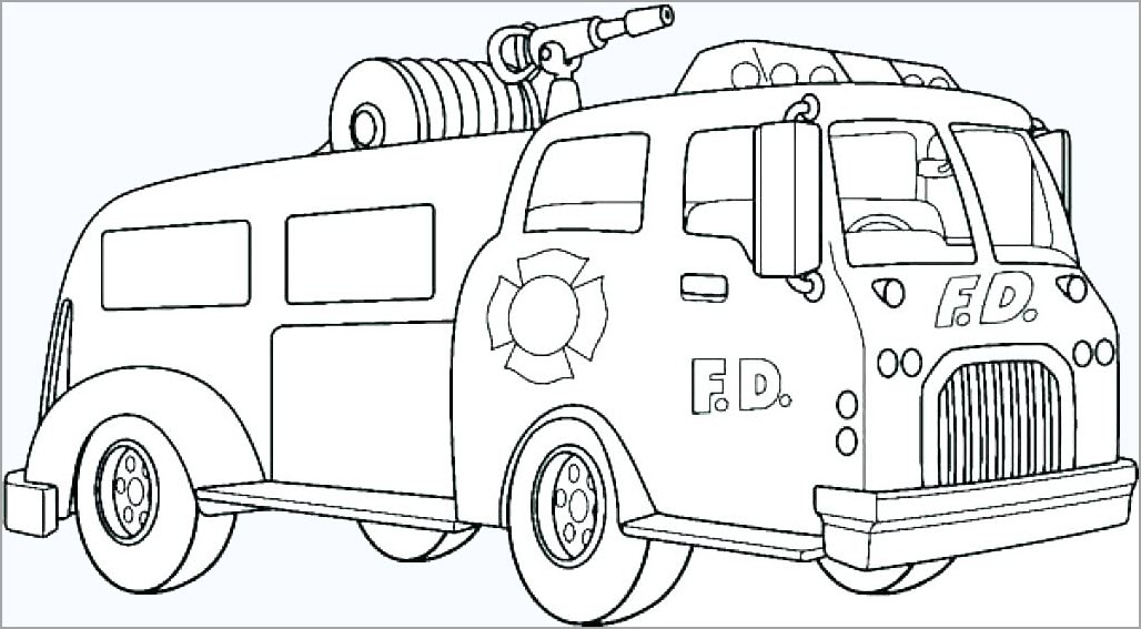 Tập tô màu phương tiện giao thông cho bé