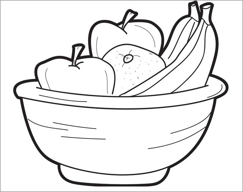 Tập tô màu trái cây hoa quả