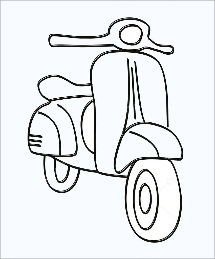 Tập tô màu xe máy cho bé