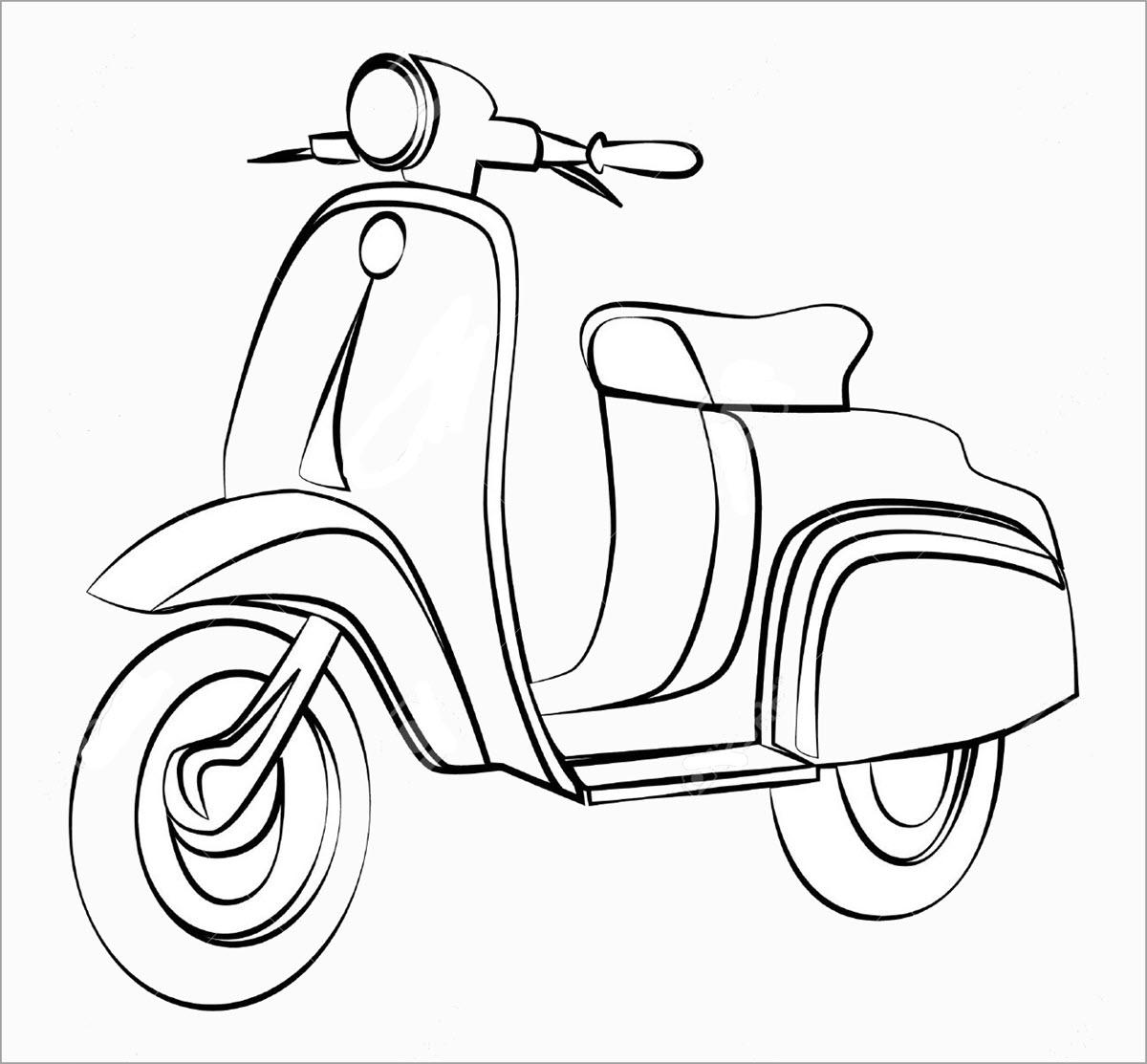 Tập tô màu xe máy