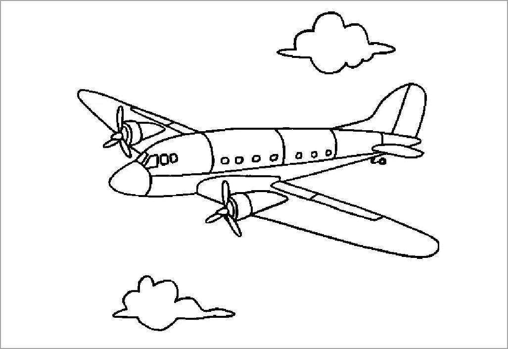 Tập tô máy bay cho bé