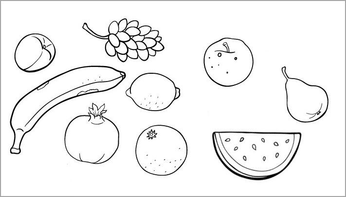 Tô màu các loại hoa quả