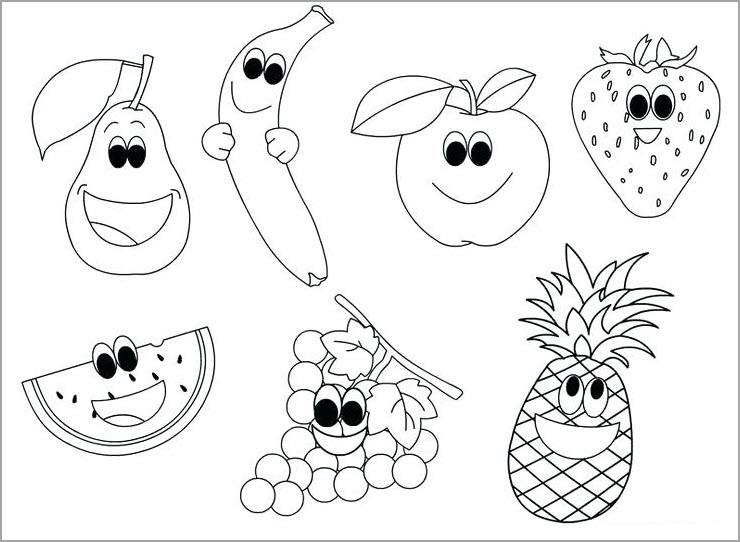 Tô màu các loại quả ngộ nghĩnh