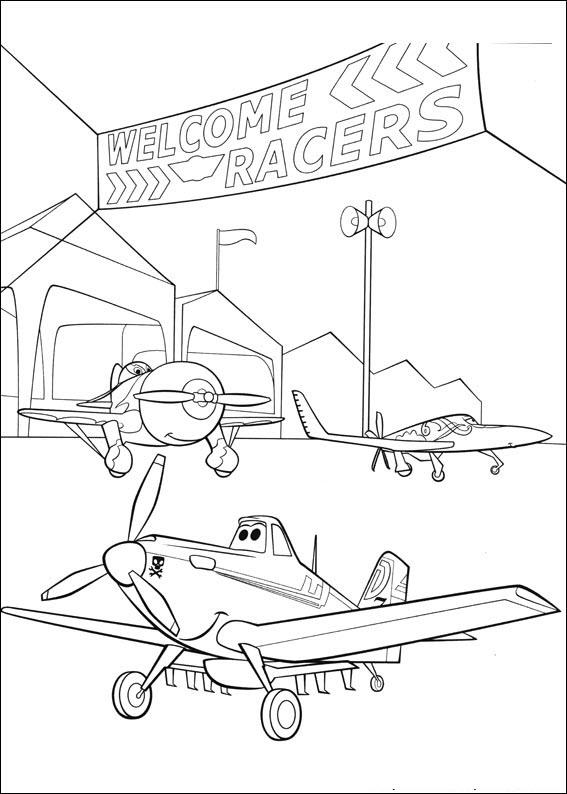 Tô màu cho bé chủ đề máy bay