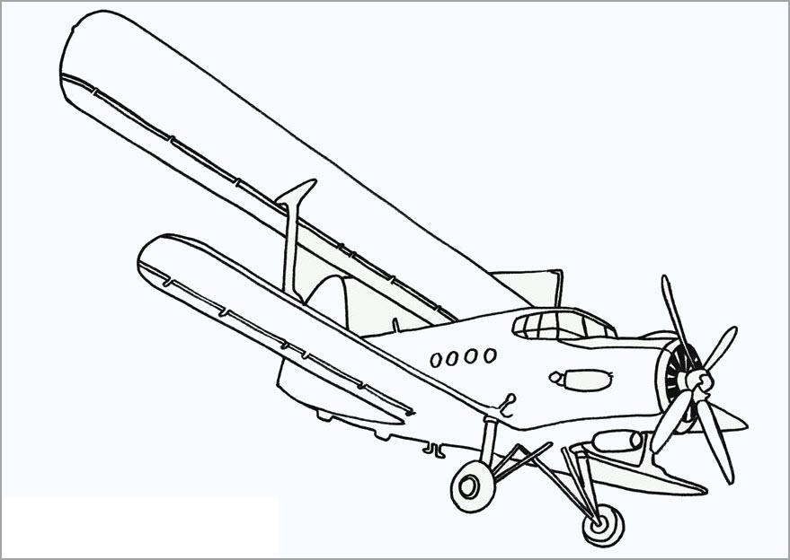 Tô màu hình máy bay