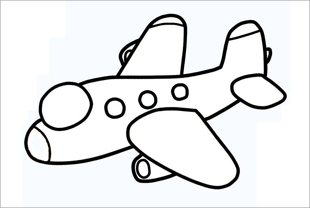 Tô màu máy bay cho bé