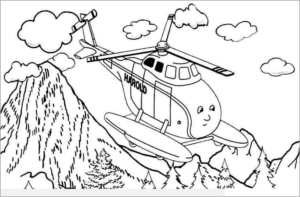 Tô màu máy bay trực thăng