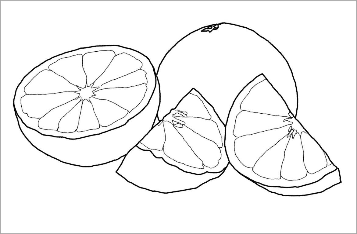 Tô màu quả cam