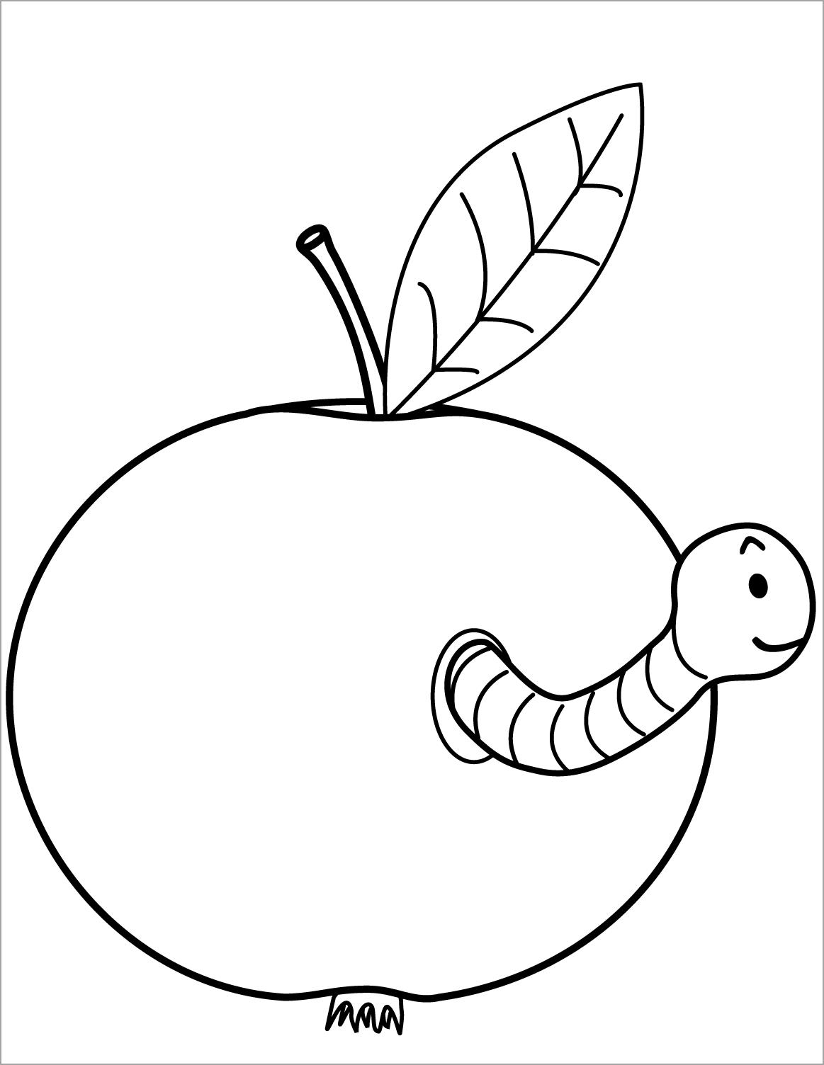 Tô màu quả táo sâu