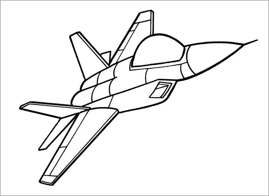 Tô màu tranh máy bay cho bé