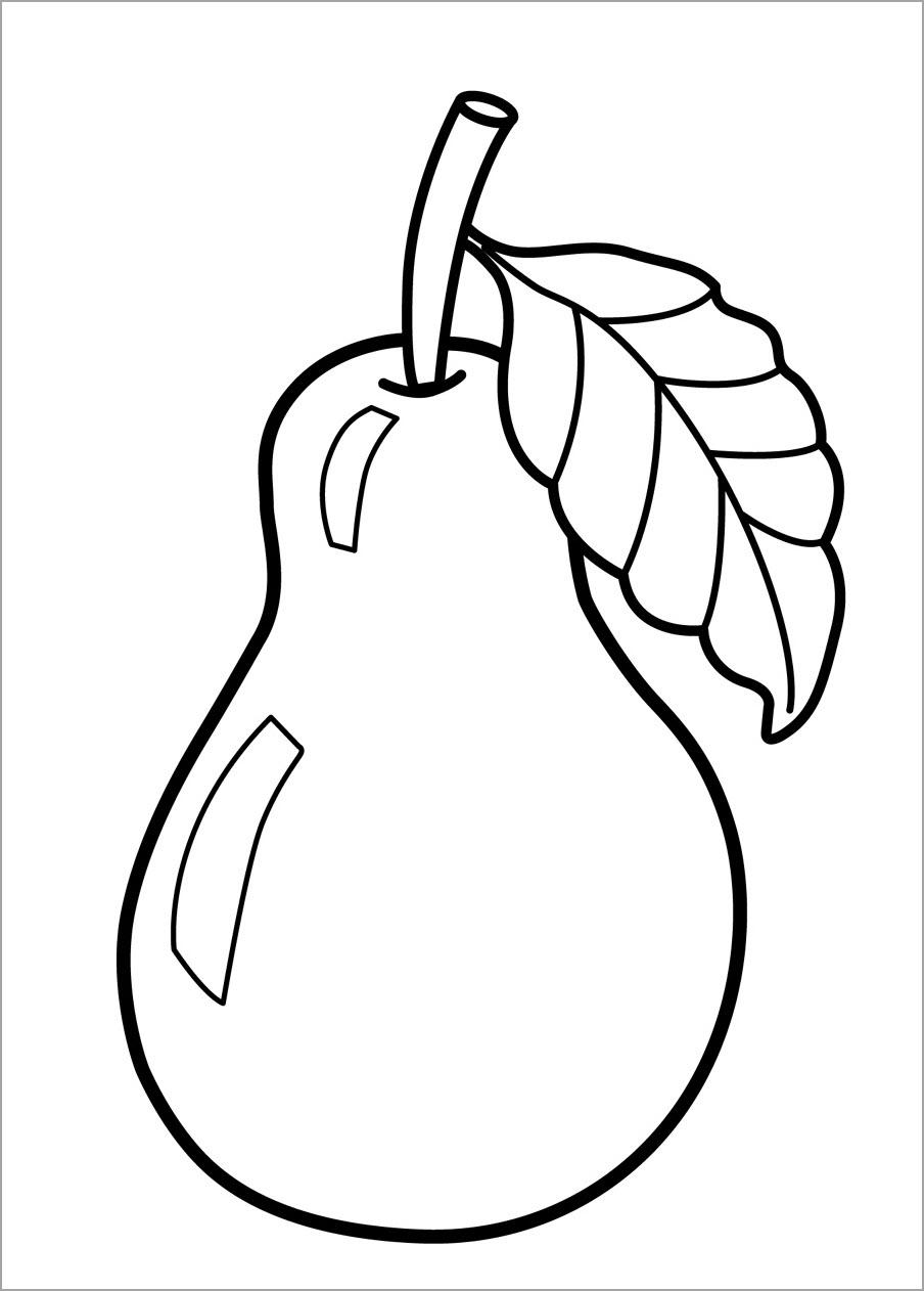 Tranh cho bé tập tô màu trái cây